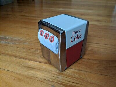 Vintage Coca Cola Metal Napkin Dispenser