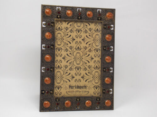 PIER 1 IMPORTS - Metal Jeweled Picture Frame