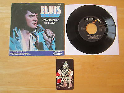 Elvis 45rpm record & Sleeve, Unchained Melody RCA PB-11212  1978 Pocket Calendar