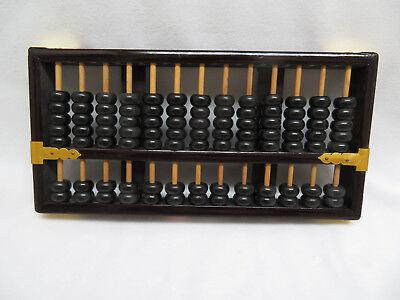 Vintage  Lotus Flower Brand Wood Abacus, Chinese Calculator