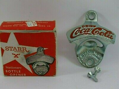 Vintage Starr 'X' Stationary Bottle Opener Coca-Cola with Box Coke