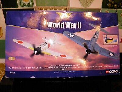 Corgi aviation AA99120 Guadalcanal Island, Corsair and Zero aircraft model. 1:72