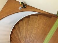 Stairs-sanding and staining