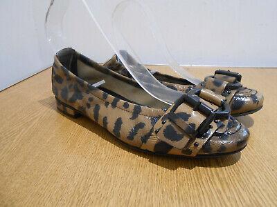 Kennel & Schmenger animal print leather ballet pumps shoes 5.5 VGC smart