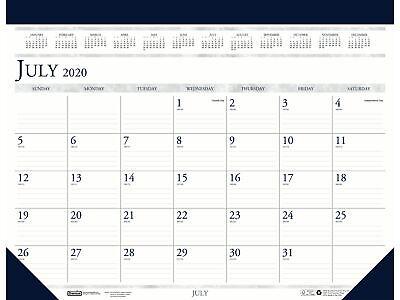 Blue Sky 2020-2021 13 X 18.5 Desk Calendar Classic White 155621
