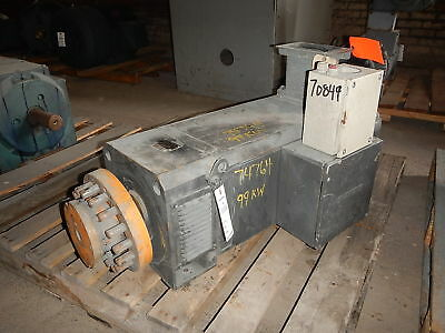 125 HP DC Siemens Electric Motor, 2290 RPM, 160 Frame, DPFV, 460 V Arm.