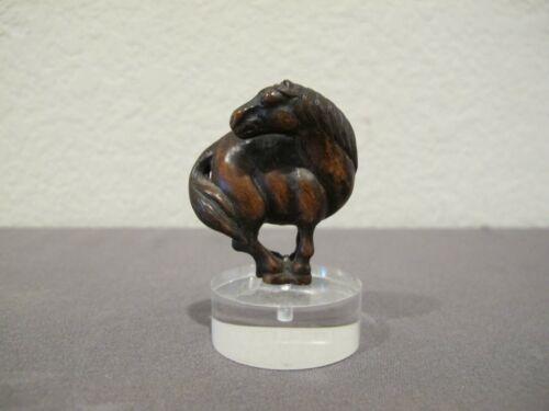 Vintage Netsuke Horse - MMA Metropolitan Museum of Art Pendant on Acrylic Base