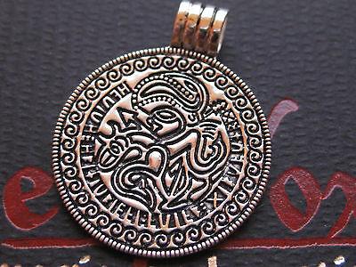 Odin Amulett Silber 925'er + Band + Box Anhänger der Wikinger  / KA 090
