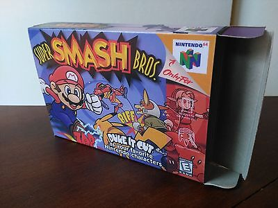 Super Smash Bros. N64 Replacement Art Case/Box ONLY!!!