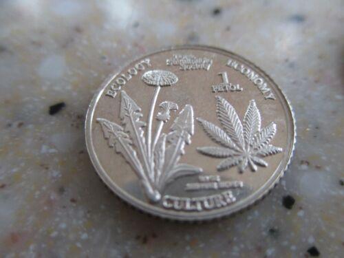 Marijuanna Silver Coin Mattole Humboldt County CA.1/10 oz .Pure .999 Fine Silver