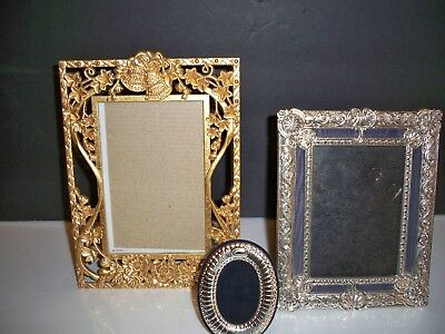 3 METAL PICTURE FRAMES FOR PHOTOS