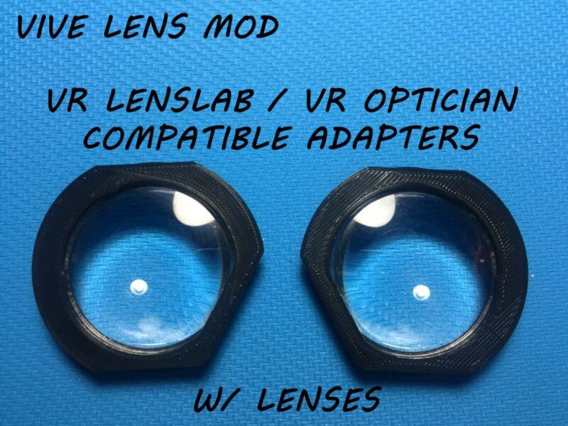 HTC Vive Lens Mod for VR Optician & VR Lens Lab | V 2.03 | W/ Lenses | gear vr