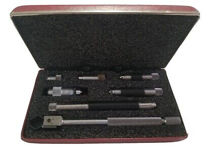 Starrett No. 823 1.5 - 8 Inside Tubular Machinist Micrometer Full Set In Case
