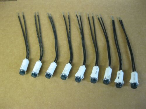 Lot of 9 Green Panel Mount Indicator Lamp Assembly, 28 volt 981-604X-96WGN