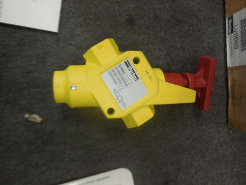 Parker LV6B6B Pneumatic Lockout Valve New