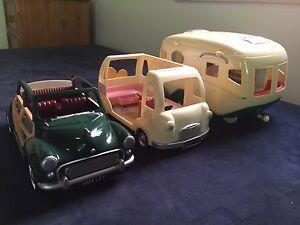 Sylvanian Families Car, Caravan and Ice cream Van North Rocks The Hills District Preview