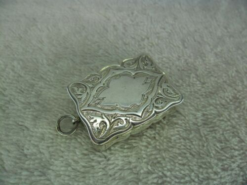 Early Victorian Solid Silver Vinaigrette, Birmingham 1848