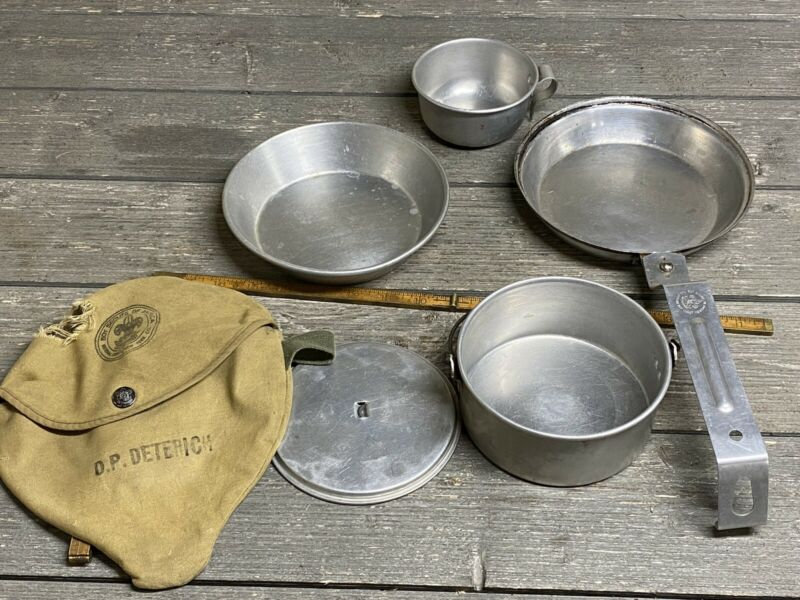 Vintage BSA Mess Kit Boy Scouts of America With Pouch