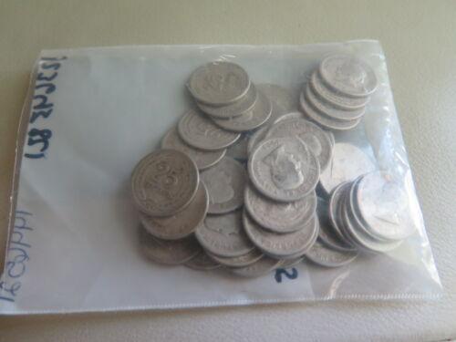 Collectible 90% SILVER Lot of 45 Coins From El Salvador 25 Centavos (168)