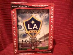 LA Galaxy Soccer Sports Quartz Wall Clock USA Major League Resin Handcrafted
