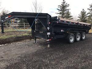 Tri-axle dump trailer