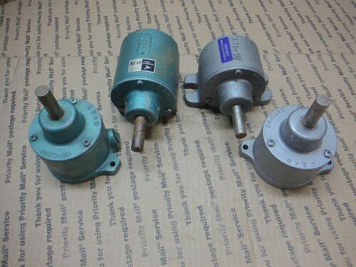 "Mead Chicago Fluid Dynamics Aluminum Cylinder 1/2"" Shank Lot of 4 (Stk40)"