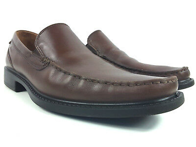 ECCO Men's Brown Leather Business Comfort Slip On Loafer US Size 12 - 12.5  Ecco Business Comfort