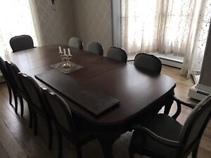 Antique 10 seat Dining room Table and Buffet.