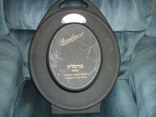 VINTAGE borsalino hat ACE OF CASE HAT BOX BLACK PLASTIC PROTECTOR TRAVEL ISRAEL