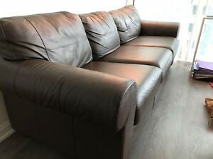 Leather Sofa (Couch - Brown color)