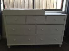 7 Drawer Chest of Drawer with Baby Change Table for Nursery Laverton Wyndham Area Preview