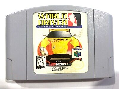 World Driver Championship - Nintendo 64 N64 Game Tested + Working & Authentic