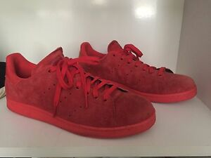 All Red Suede Stan Smiths