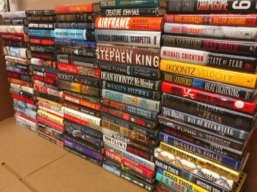 Lot of 100 Mystery Suspense Thriller Crime Murder Detective Hardcover HCDJ Books
