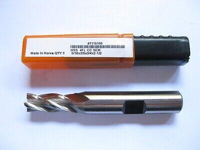 All Industrial 14610 5//8 X 1//2 X 4-1//8 X6-1//8 TiN HSS 4FL CC Long End Mill