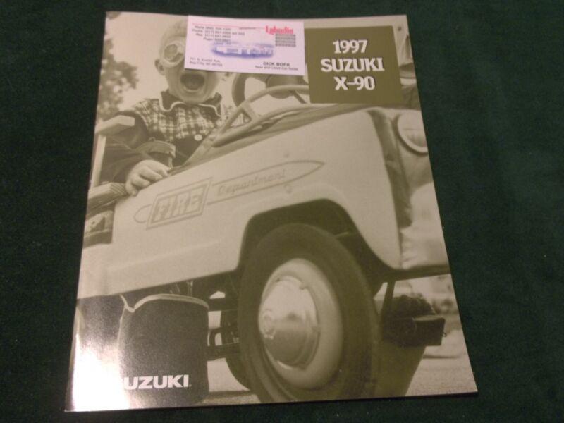MINT 1997 SUZUKI X-90 ORIGINAL 12 PAGE SALES BROCHURE W/ COLOR CHART (8-B)