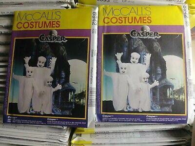 Kid Friendly Adult Costumes (8942 McCalls 90's Halloween Pattern Casper the Friendly Ghost Adult / Child)