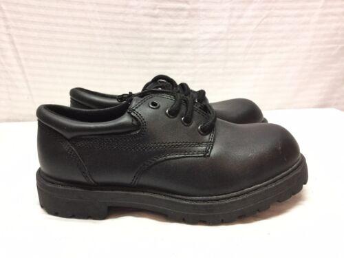 NWT George Boys Black Leather Shoes 13 Casual
