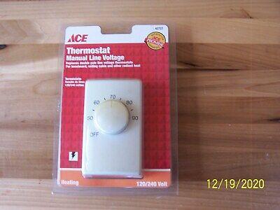 Line Voltage Thermostat 120240 Volts Ace Brand