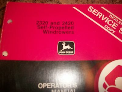 John Deere Operators Manual 2320 And 2420 Self-propelled Windrowers