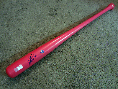 WILSON RAMOS Tampa Bay Rays SIGNED Autographed PINK Baseball Bat w/COA