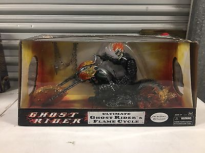 "Hasbro Ultimate Ghost Rider & Flame Cycle Marvel Legends 12"" Action Figure"
