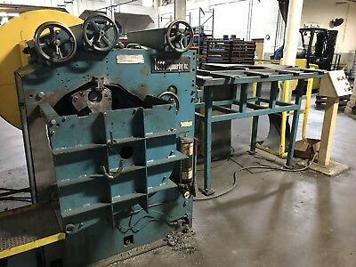 Hess 3r120m2a - 1212 3 Roll Rim Ring Roller W Infeed Conveyer 7.5 Hp