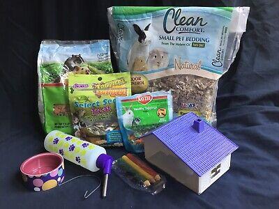 Hamster Gerbil Small Animal Pet Supplies Start Up Food Bedding Chews Bowl Treats