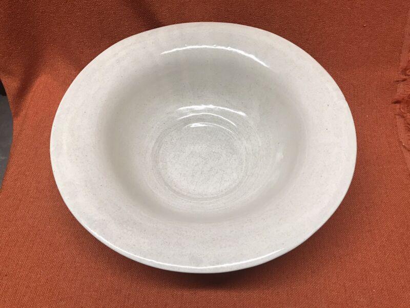 Antique American Redware Pottery Large Ceramic Glazed Bowl Basin 14.75 Inch