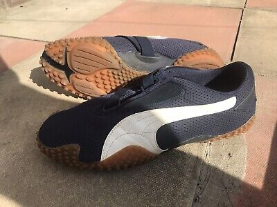 Vintage/rare PUMA MOSTRO MESH SS. Blue. Uk11. USA 12, EUR 46. Used W/ Box.