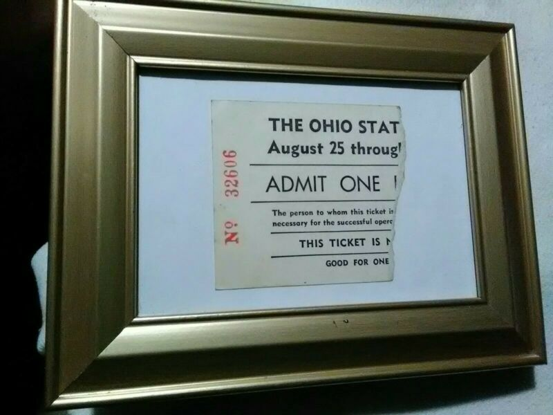 Super Rare Vintage Original Ohio State Fair? Ticket Stub August 25th Admit One