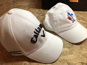 Lot deux casquettes de golf neuves callaway et Golf Québec