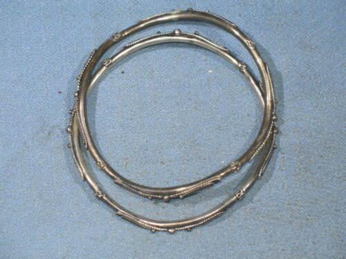 Lot of 2 Vintage Sterling Silver Bangle Bracelets Signed BA 925