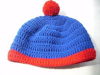 South Park Stan Cosplay (Crochet hat Tossel cap South Park cosplay Stan Marsh reb blue)